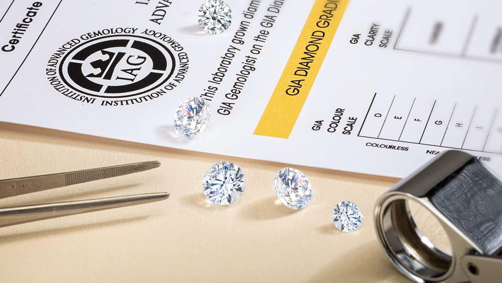 lab grown diamond report photo